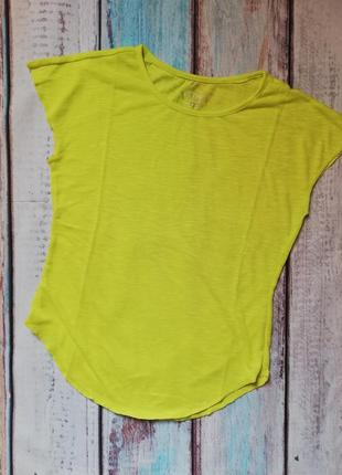 Салатовая футболка, футболка для спорта, спортивная футболка