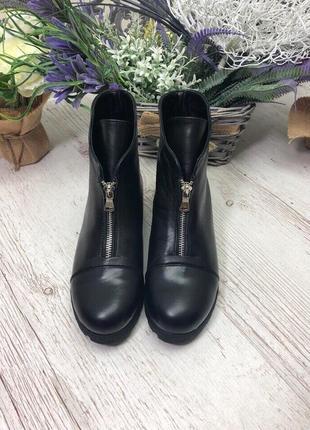 36-41 рр деми/зима ботинки, ботильоны черные натуральный замш, кожа3