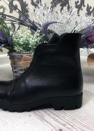 36-41 рр деми/зима ботинки, ботильоны черные натуральный замш, кожа4
