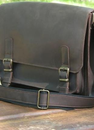 Кожаная мужская сумка, сумка а4 для документов ручной роботы