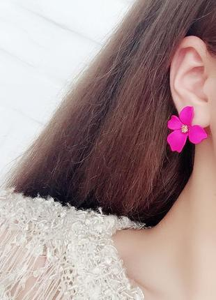 Супер нежные серьги цветок