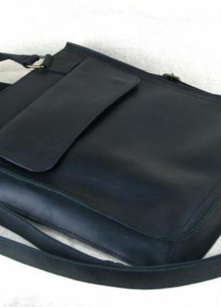 Кожаная мужская сумка , сумка а4 , сумка для документов