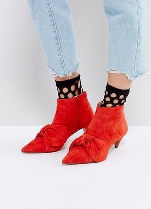Замшевые ботинки с бантом asos,р-р 36