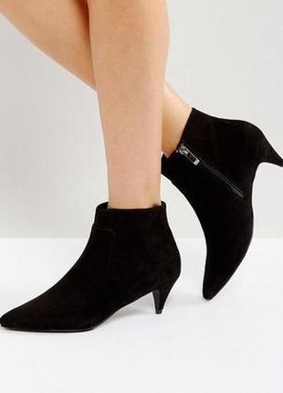 Ботинки с узким носком asos,р-р 40