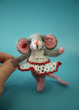 Брелок мышонок в платьице