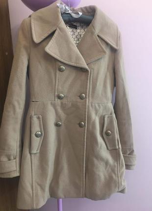 Двубортное пальто пальтишко осень- зима