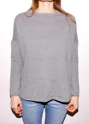Серый свитер zara