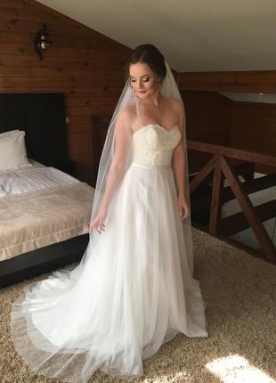 Бежевые свадебные платья 2019 - купить недорого вещи в интернет ... 0e4e58c3dbb4c