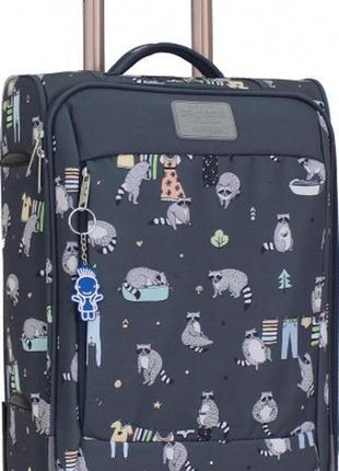 Чемодан, маленький чемодан, еноты, валіза, ручная кладь, самолетный чемодан 3e6bf010140