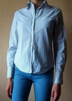 Распродаю вещи!!!!  шикарная рубашка в мелкую полоску от espirit