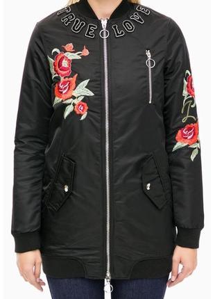 Удлиненная куртка бомбер guess