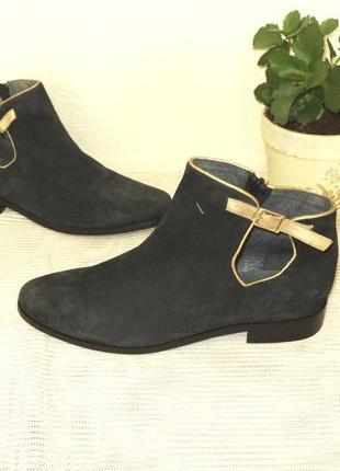 Португальские замшевые ботиночки, 37 р (24,5 см)