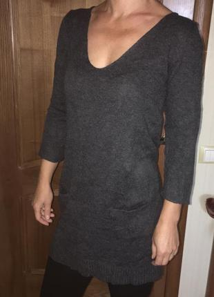 Туника платье мини кофта свитер джемпер свитшот кардиган парка h&m шерстяная