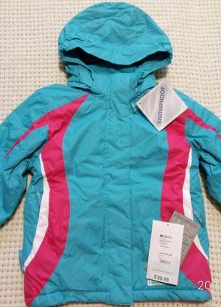 Зимняя лыжная куртка mountain warehouse, 5лет