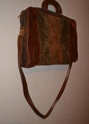Сумка - портфель puccini by modella design (замша + кож)