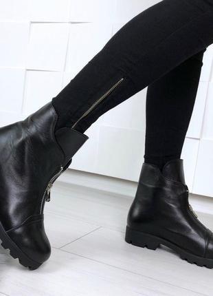 36-41 рр деми/зима ботинки, ботильоны черные натуральный замш, кожа5