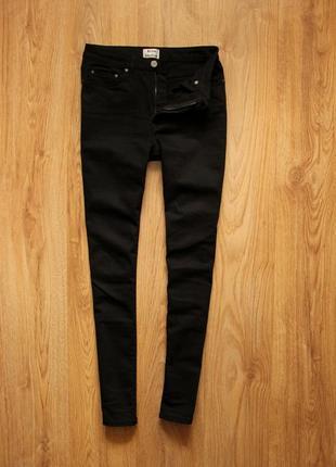 Женские черные узкие джинсы acne studios