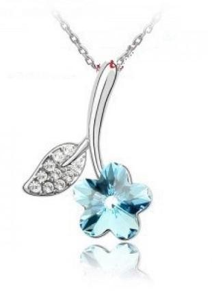 Ювелирный кулон подвеска на цепи цветок, новый! арт.9516
