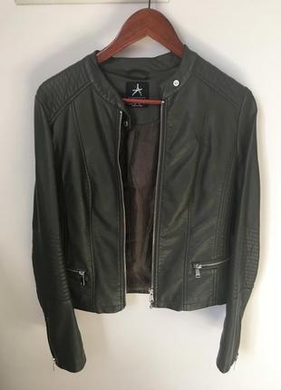 Куртка косуха кожаная эко кожа хаки atmosphere