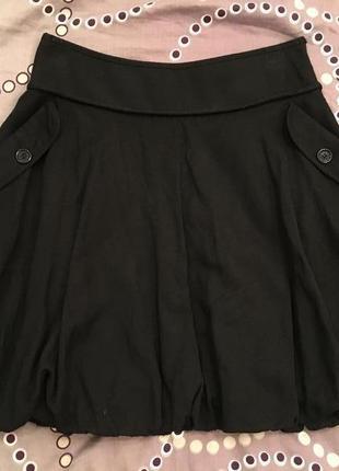 Черная юбка-тюльпан