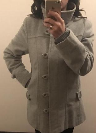 Зимнее пальто, шерсть.