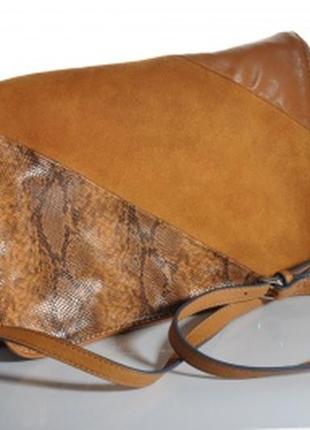 Кожаная сумка zara