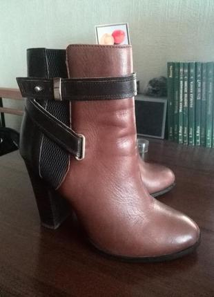Ботильйоны ботинки сапоги aldo 37 размер натуральная кожа каблук