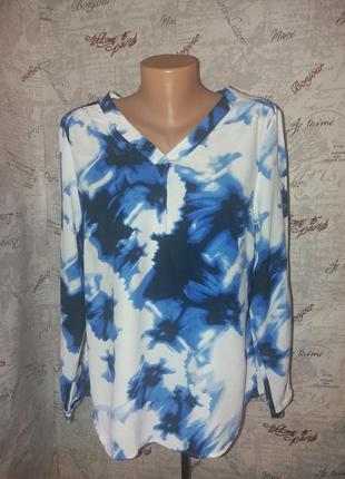 Шикарная блуза длинный рукав 50/52размер