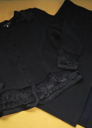 Красивенный костюм-юбка и жакет,большой размер,корея