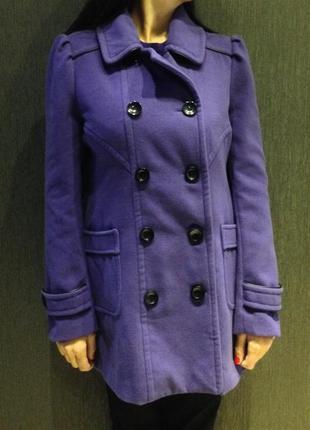 Сиреневое пальто forever 21 размер l/40
