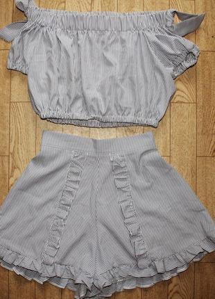 Топ и шорты размер