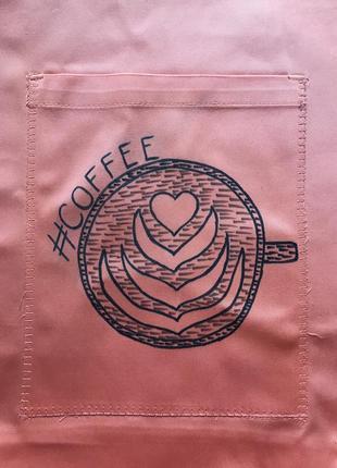 Эко сумка торба шоппер кофе coffee @don.bacon оранжевая4 фото