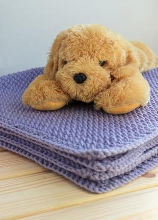 Тёплый вязаный плед для малыша / ручная работа
