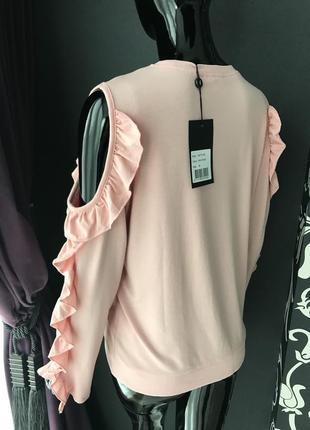 Кофточка розовая с открытыми плечами2