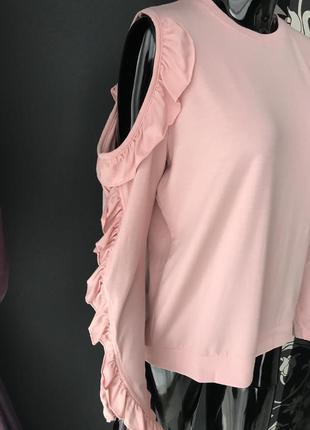 Кофточка розовая с открытыми плечами5