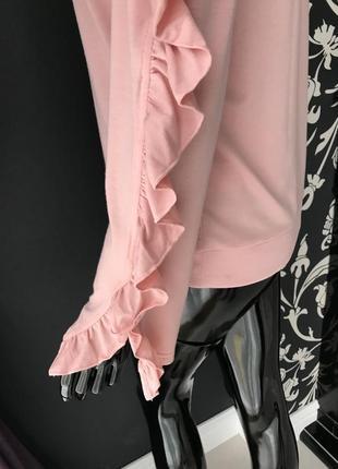 Кофточка розовая с открытыми плечами4