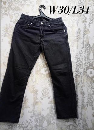 W30/l34 мужские джинсы серого цвета, прямого кроя toledo
