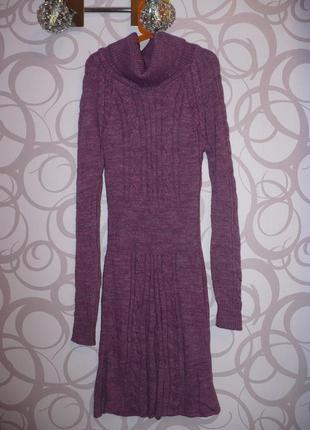 Теплое мягкое платье красивого цвета