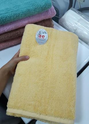 Бюджетное плотное банное полотенце турция из хлопка 140×70см