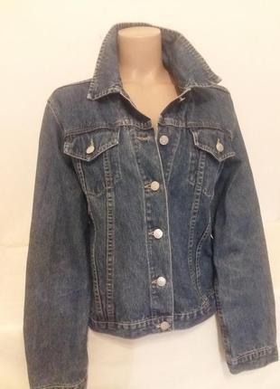 Классическая фирменная джинсовая куртка newport