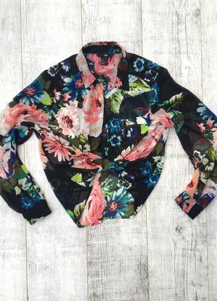 Шикарная актуальная блуза h&m в цветочный принт