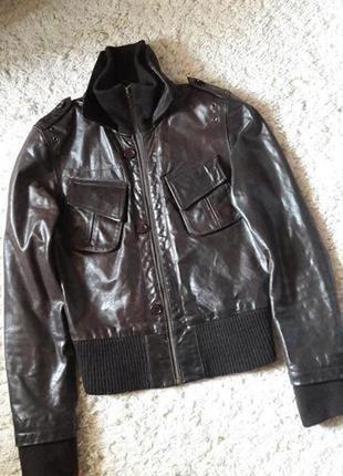 Куртка бомбер натуральная кожа