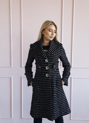 Пальто karen millen,черное пальто,классическое пальто,шерстяное пальто
