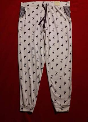 Теплые пижамные домашние штаны love to lounge