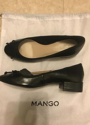 Супер туфли от mango. кожа