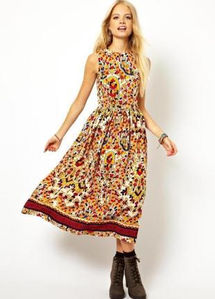 Платье миди с мозаичным принтом asos