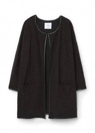 Кокон пальто mango кардиган черный оверсайз пальто халат шерстяное пальто