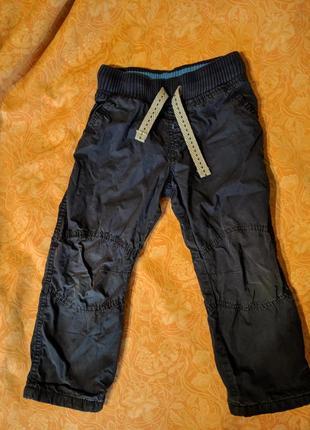 Утепленные штаны m&s на 2-3 года