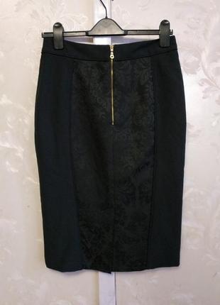 Классическая юбка карандаш черная atmosphere2