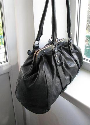 Кожаная сумка, саквояж allsaints nocturne bag